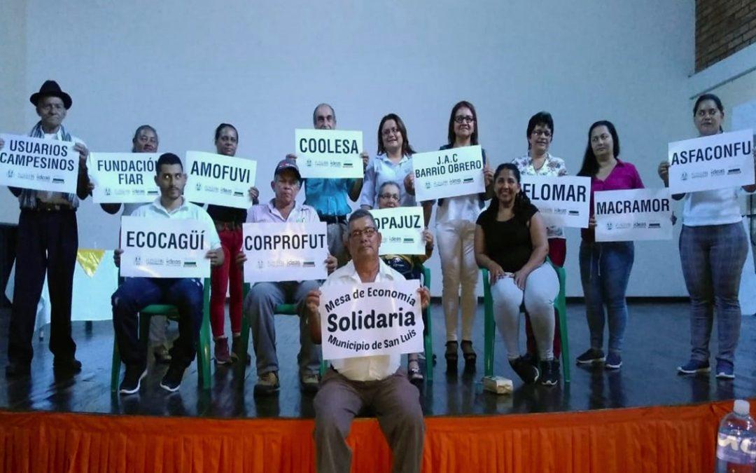La Mesa de Economía Solidaria de San Luis presenta ante la Gobernación de Antioquia resultados de su proyecto de fortalecimiento