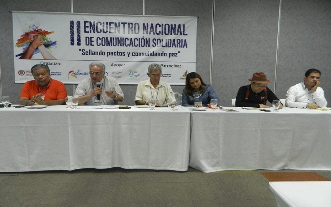 """II Encuentro Nacional de Comunicación Solidaria: """"Sellando Pactos y Consolidando Paz"""""""
