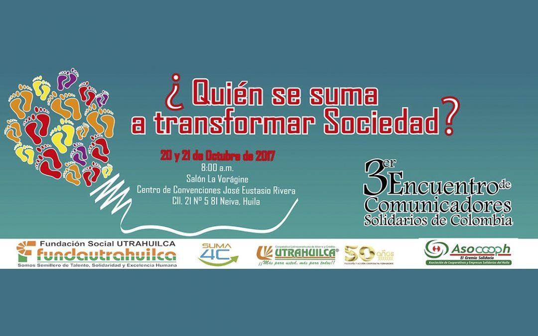Neiva, sede del III Encuentro de Comunicadores Solidarios de Colombia