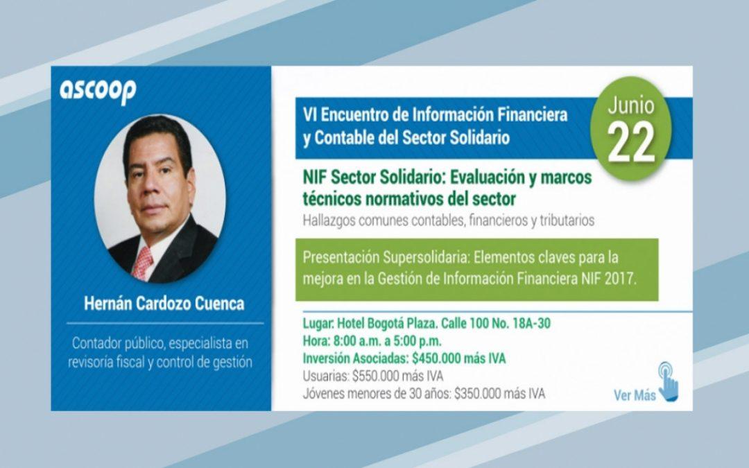 VI Encuentro de Información Financiera y Contable del Sector Solidario – NIF