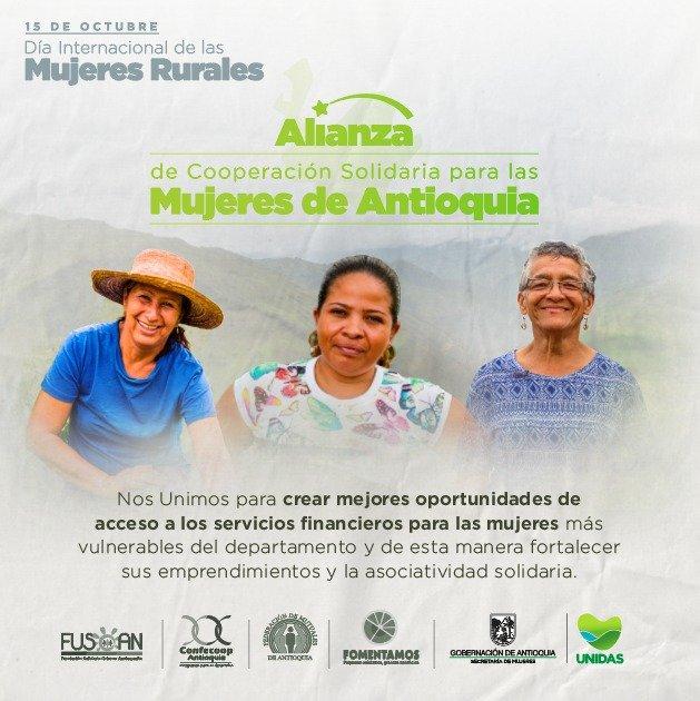 Secretaría de las Mujeres firmó la Alianza de Cooperación Solidaria que favorece a las mujeres de Antioquia
